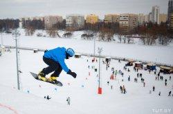 Как прошел День снега в Минске на горнолыжном курорте «Солнечная долина»