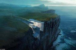 Исландия построит отель между скал