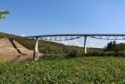 В Литве появился самый высокий мост над Неманом для пешеходов и велосипедистов