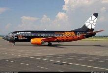 «Белавиа» показала брендированный самолет