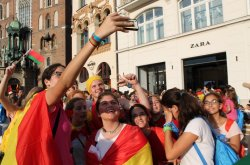 Фоторепортаж. Как прошла пилигримка в Краков на Всемирный день молодежи