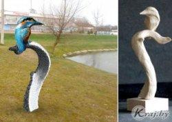 В Воложине на берегу озера торжественно откроют скульптуру зимородка — символа Воложинского района