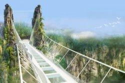 Cтеклянный мост в Китае проработал лишь две недели