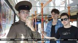 В Гродно ко Дню городу провели бесплатные экскурсии для пассажиров троллейбусов