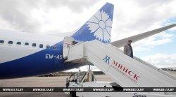 Второй васильковый самолет «Белавиа» приземлился в Национальном аэропорту Минск