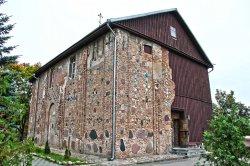 Деревянная стена Коложской церкви в Гродно может не пережить сильных ветров
