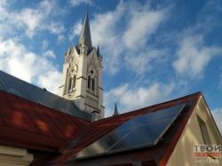 Гродненская кирха обзавелась солнечными батареями