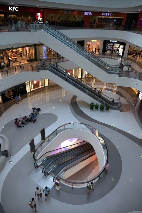 Haitang Bay Mall сверкает и блестит