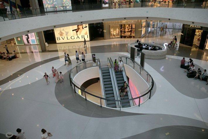 Haitang Bay Mall -- словно привет из будущего!