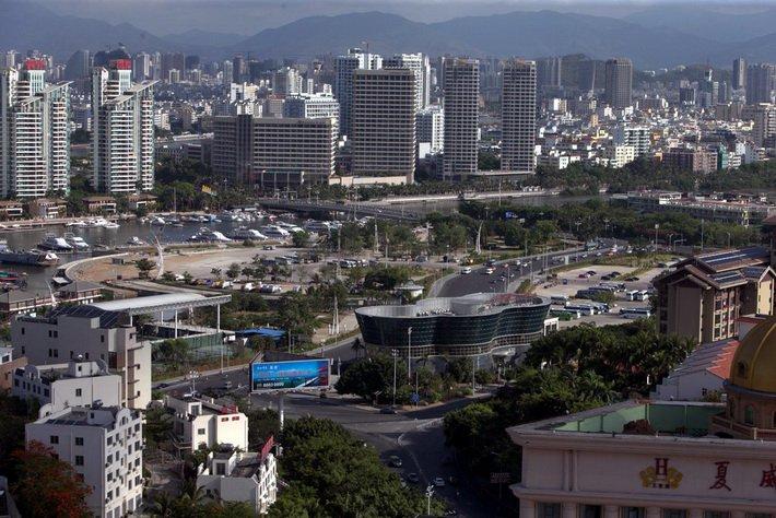 Курорт Санья с высоты 18 этажа