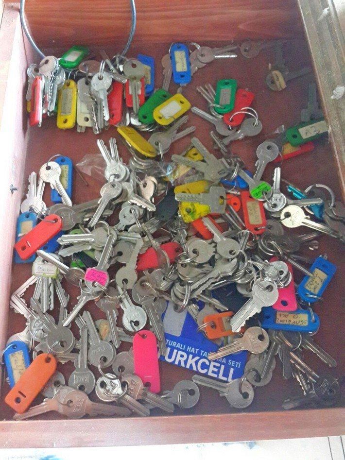ключи от номеров в заброшенном турецком отеле