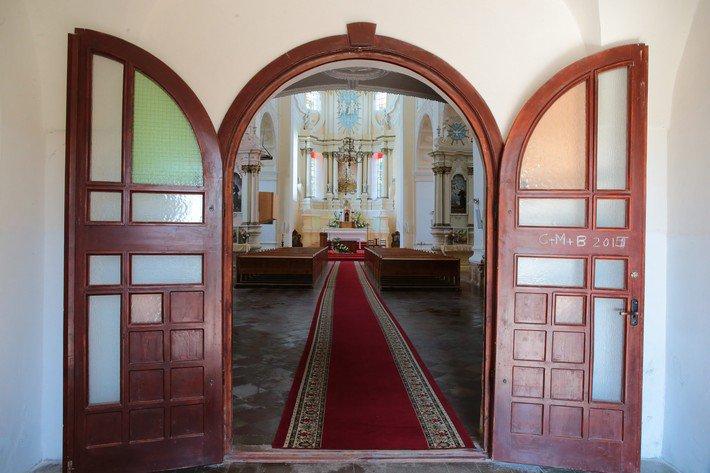 Друя вход в Троицкий костел