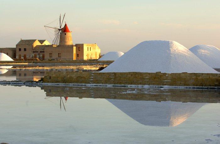 Солеварня в Марсале, Сицилия. Sapori tours, винные и гастрономические туры