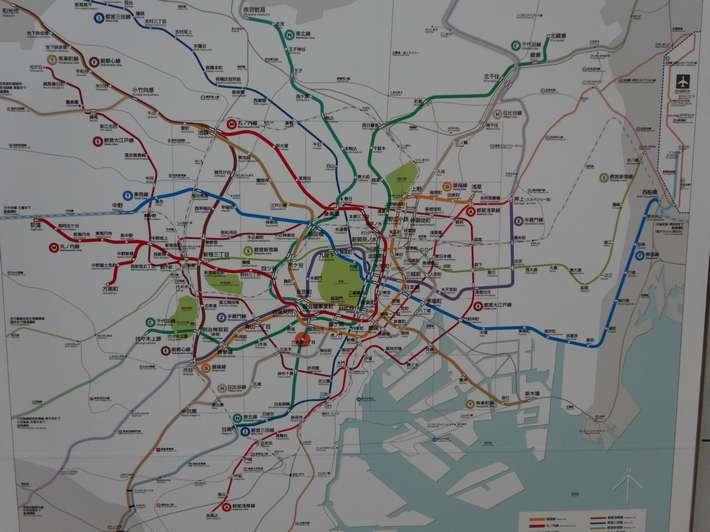 Схема линий токийского метро