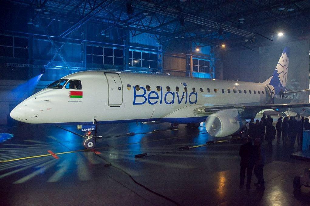 Новый Embraer «Белавиа» приземлился вМинске