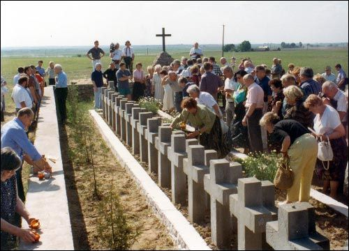 Захоронение солдат Армии Крайовой, фото: Владимир Сергеев